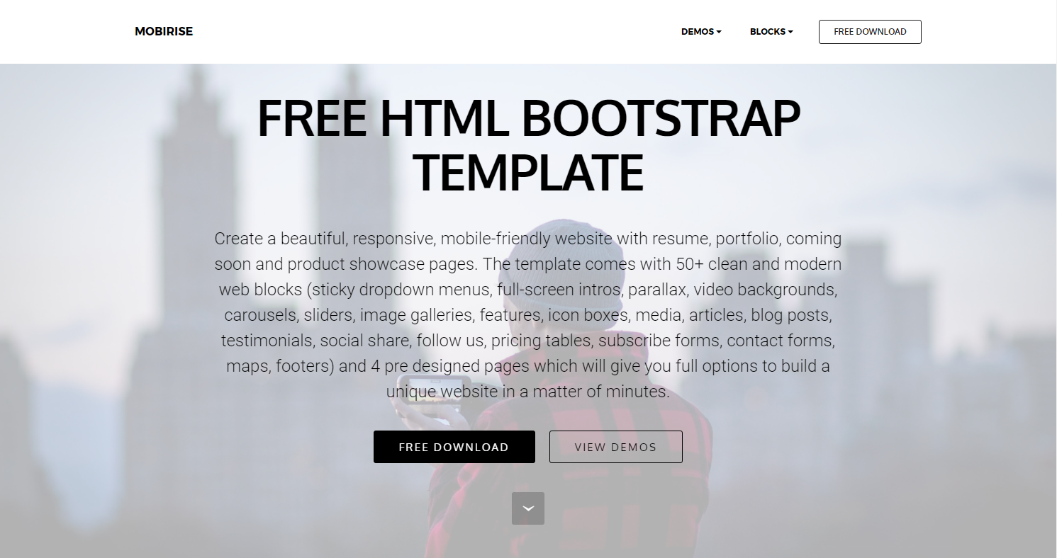 Free HTML Bootstrap Template – mobirise